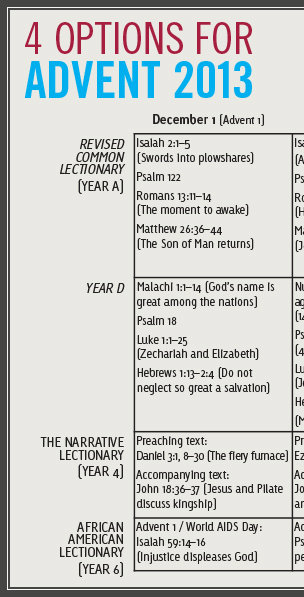 What's the text? Alternatives to the common lectionary