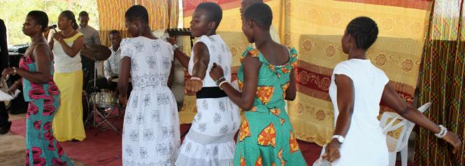 church service in Ghana